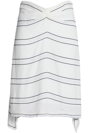 PROENZA SCHOULER Frayed striped crepe skirt