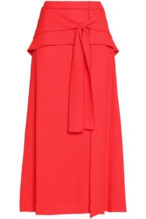 PROENZA SCHOULER Tie-front crepe midi skirt