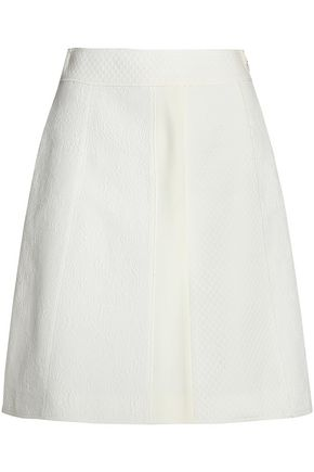 PROENZA SCHOULER Cotton and silk-blend jacquard mini skirt