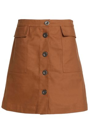 M.I.H JEANS Flared cotton-twill skirt