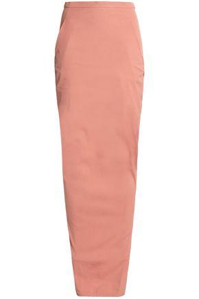 RICK OWENS Wrap-effect stretch-cotton maxi dress
