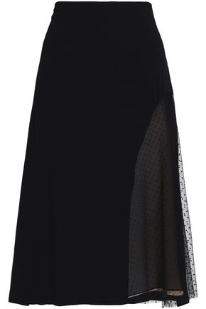 JASON WU Point d'esprit and crepe skirt