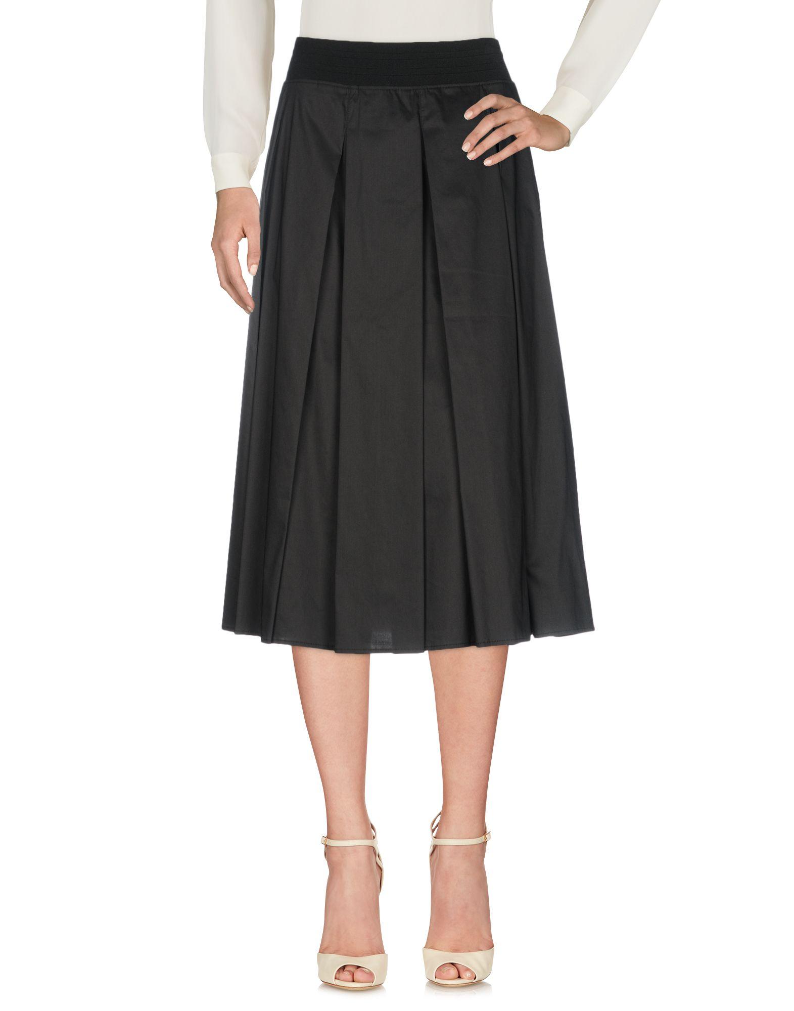 SHE'S SO Midi Skirts in Black