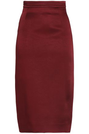 ANTONIO BERARDI Crepe-satin skirt