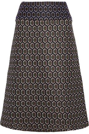 MARNI Metallic jacquard-knit skirt