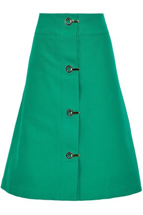 MARNI Eyelet-embellished cotton-canvas skirt