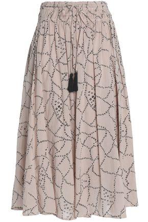 ANTIK BATIK Printed cotton midi skirt