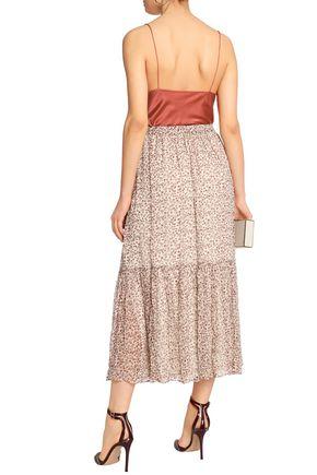 ZIMMERMANN Cavalier floral-print silk-georgette midi skirt