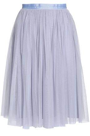 NEEDLE & THREAD Pleated tulle skirt