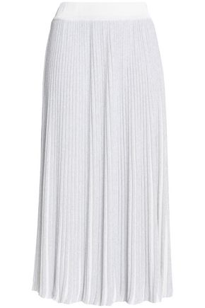 ADAM LIPPES Pleated knitted midi skirt