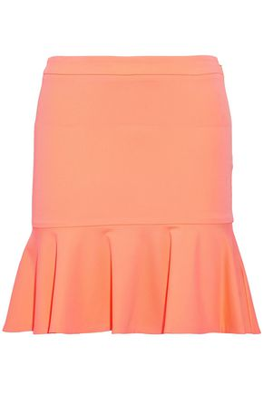 ROBERTO CAVALLI Fluted stretch-cady mini skirt