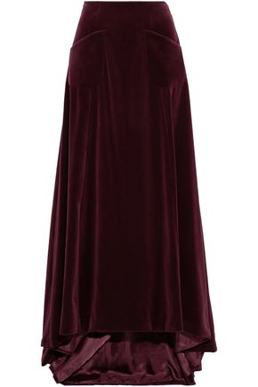 CAROLINA HERRERA Cotton-velvet maxi dress