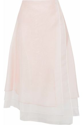 CAROLINA HERRERA Layered silk-organza skirt