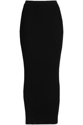 ROSETTA GETTY Ribbed-knit maxi skirt