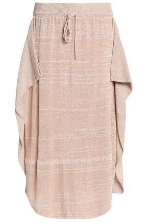 STELLA McCARTNEY Ruffled open-knit midi skirt