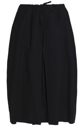 JIL SANDER Pleated cotton skirt
