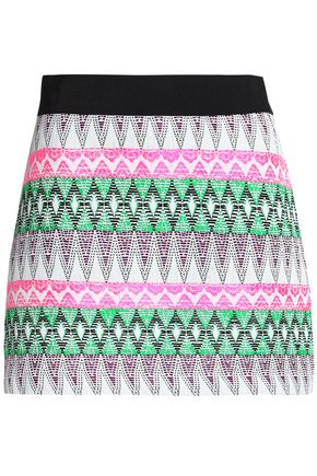 MILLY Jacquard-knit mini skirt