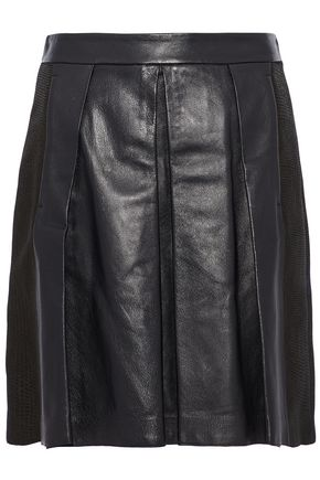 PROENZA SCHOULER Pleated leather mini skirt