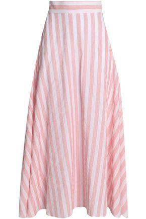 IRIS & INK Timo striped cotton-blend maxi skirt