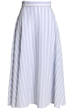 IRIS & INK Timo striped cotton-blend maxi skirt