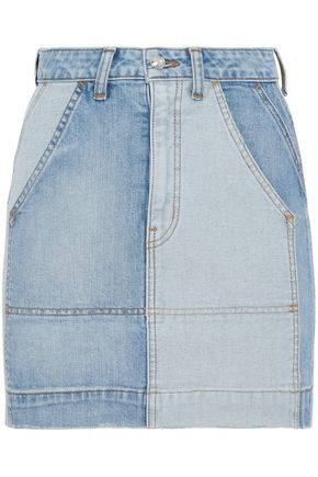 DEREK LAM 10 CROSBY Lyla two-tone denim mini skirt