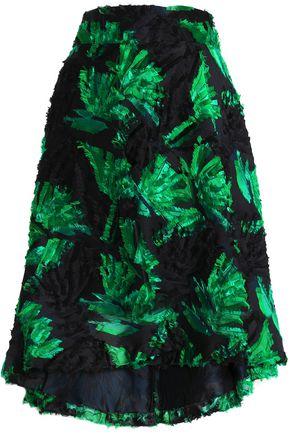 MILLY Fil coupé jacquard skirt