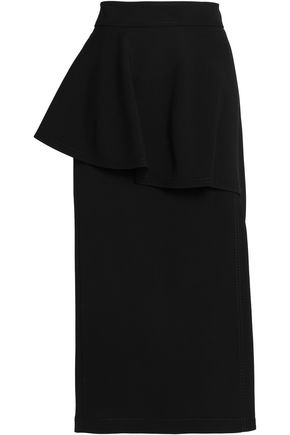 STELLA McCARTNEY Layered wool-blend midi skirt