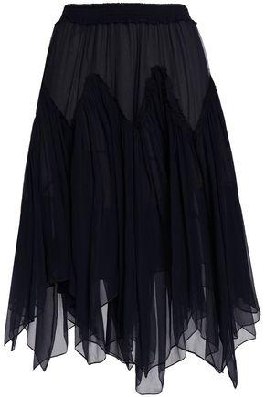 CHLOÉ Asymmetric silk-chiffon skirt