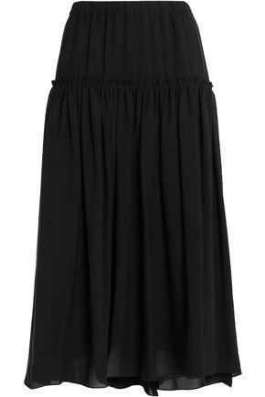 CHLOÉ Gathered silk midi skirt