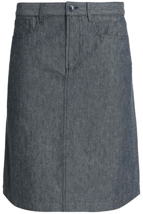 A.P.C. Cotton and linen-blend skirt