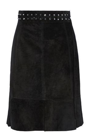 PROENZA SCHOULER Fluted studded suede skirt