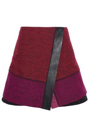 PROENZA SCHOULER Leather-trimmed tweed mini skirt
