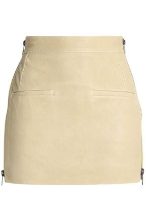 HAIDER ACKERMANN Zip-detailed leather mini skirt