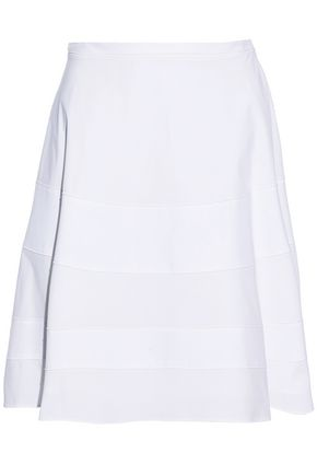 PROENZA SCHOULER Piqué-paneled stretch cotton-poplin skirt