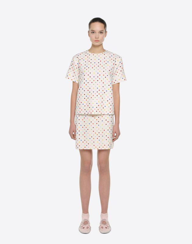 Polka-dot print skirt