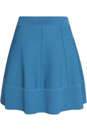 SANDRO Paris Pointelle-trimmed stretch-ponte mini skirt