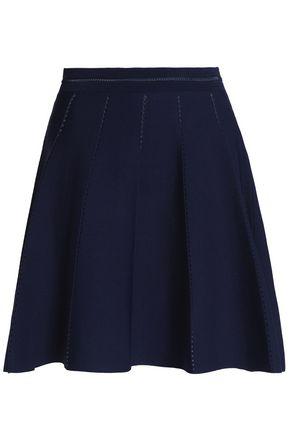 SANDRO Paris Pleated ponte mini skirt