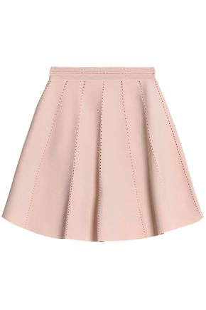 SANDRO Peated stretch-ponte mini skirt