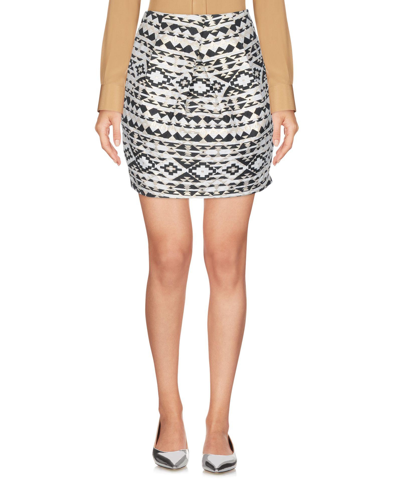 FRNCH Мини-юбка юбка жаккардовая короткая