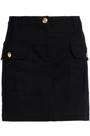 LOVE MOSCHINO Button-detailed gabardine mini skirt