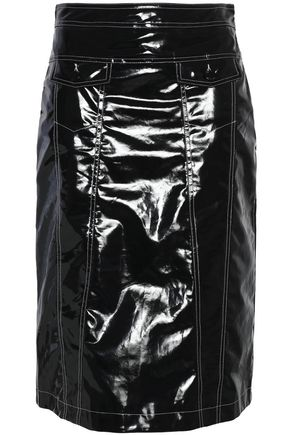 LOVE MOSCHINO Coated cotton skirt