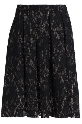 LOVE MOSCHINO Pleated lace skirt
