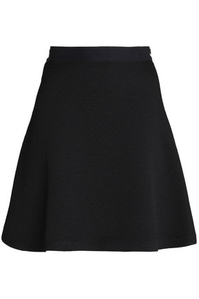 SANDRO Jeda flared cloqué mini skirt