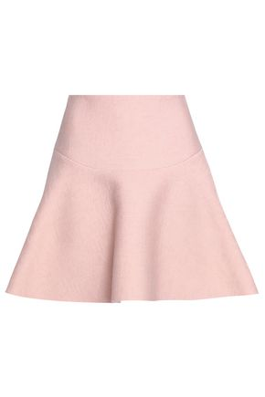 SANDRO Baya flared crepe mini skirt