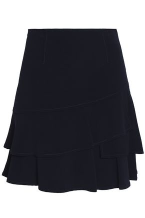 SANDRO Roxane layered ruffled crepe mini skirt