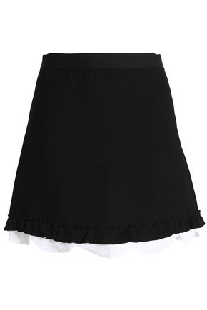 SANDRO Two-tone cady mini skirt
