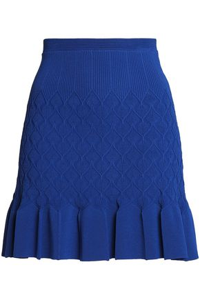 SANDRO Gregoria fluted crochet-knit mini skirt