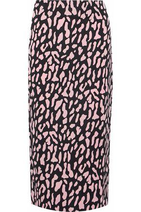DIANE VON FURSTENBERG Leopard-print cady midi skirt