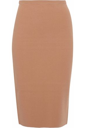 DIANE VON FURSTENBERG Two-tone stretch-knit skirt