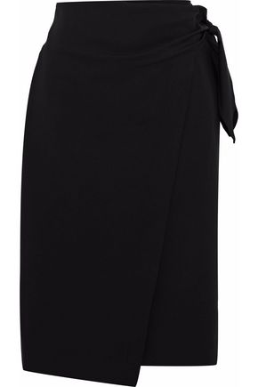 DIANE VON FURSTENBERG Wrap-effect stretch-wool skirt